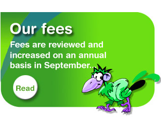 Fees are reviewed and cincresed on an annual basis in September